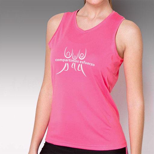 Camiseta técnica para running diseño femenino de tirantes