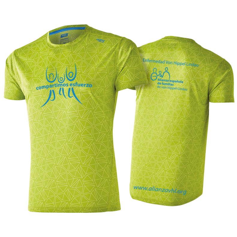 Camiseta Running Verde Fosforito 2019