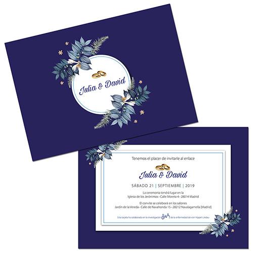 Invitación de boda solidaria Modelo 1