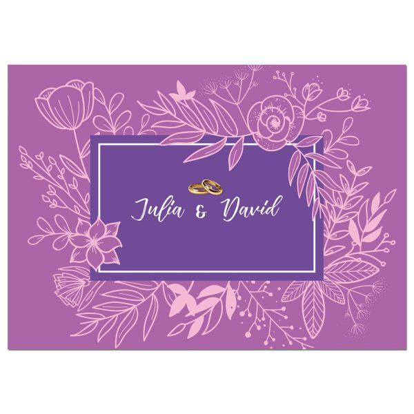 Invitaciones de boda solidarias Modelo 2
