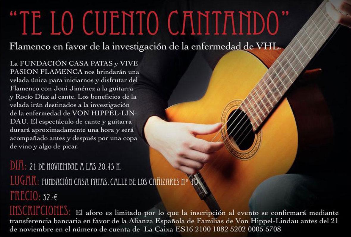 """Espectáculo flamenco """"Te lo cuento cantando"""""""