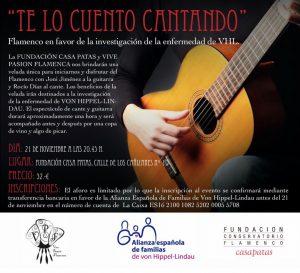 """Cartel """"Te lo cuento cantando"""", espectáculo flamenco"""