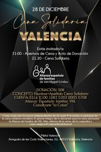 Cena benéfica Valencia 2019