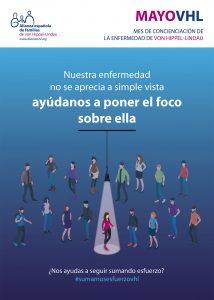Cartel de concienciación de la enfermedad de VHL